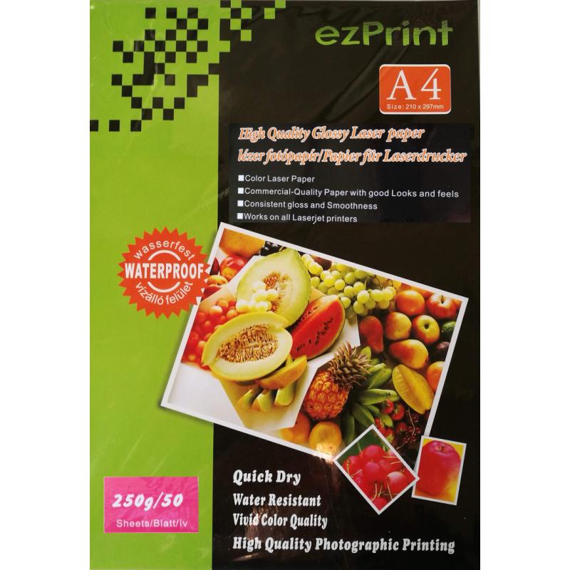 Laser Photopapier A4 50Stk 250g glossy