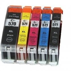 Kompatible Tinte zu Canon CLI-571BK XL schwarz hohe Kapazität