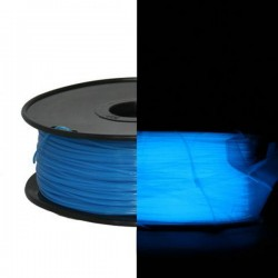 3D Filament 1,75 mm Nachtleuchtend blau 1000g