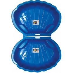 2x Muschel Sandkasten Planschbecken XL 108x79x18 blau