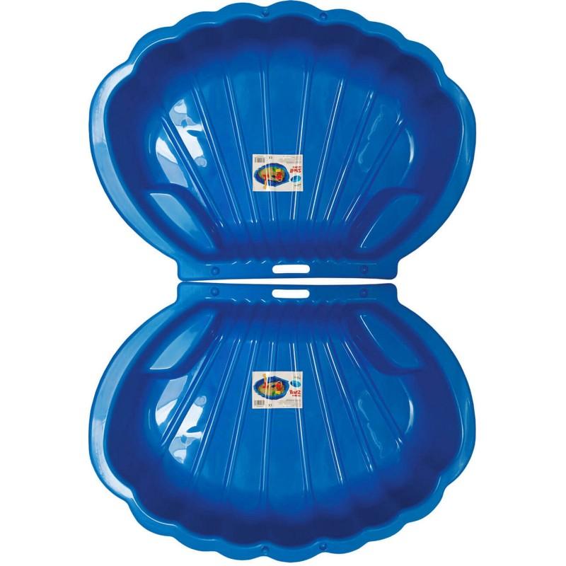 2x Muschel Sandkasten Planschbecken XL 108x79x18 blau PROMO