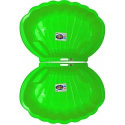 2x Muschel Sandkasten Planschbecken XL 108x79x18 grün PROMO