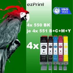 20x Tintenpatrone kompatibel zu Canon PGI550XLBK/CLI551XL C/M/Y mit Chip Multipack