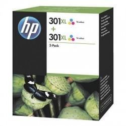 HP Druckkopf mit Tinte Nr 301 XL farbig, 2er-Pack (D8J46AE)