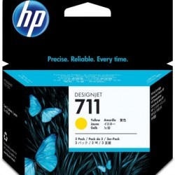 HP 711 Tinte gelb, 3er-Pack (CZ136A)