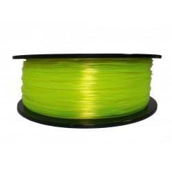 3D filament 1,75 mm TPU rubber gummi transparent gelb 800g