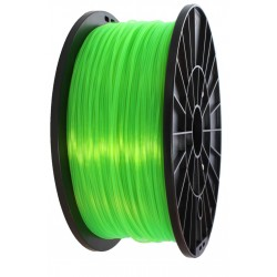 3D filament 1,75 mm TPU rubber gummi transparent grün 800g