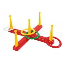 Zielwurfspiel mit 4 Ringen