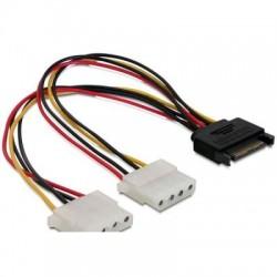Delock DL65159 SATA 15 pin male -> 2x4 pin 20 cm-