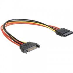 Delock 60131 Power SATA 15 Pin male > SATA 15 Pin female 30 cm