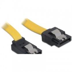 DeLOCK SATA Kabel gelb 0.3m mit Arretierung, oben/gerade (82472)
