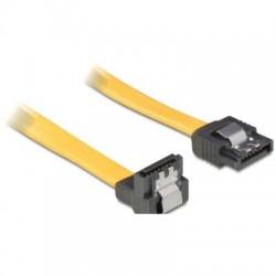 DeLOCK SATA Kabel gelb 1m mit Arretierung, unten/gerade (82485)