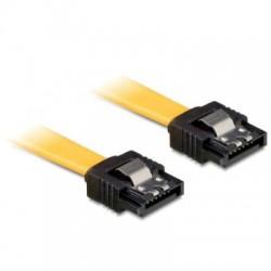 DeLOCK SATA Kabel gelb 0.3m mit Metall, gerade/gerade (82805)