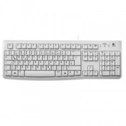 Logitech OEM K120 Keyboard for Business weiß, USB, DE (920-003626)