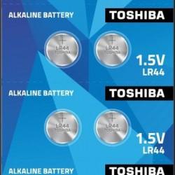 Toshiba LR 44 1.5V Alkali Knopfzelle 1Stk /LR44-BP10-TOS/