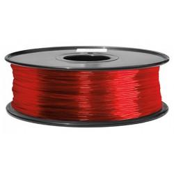 3D Filament 1,75 mm PLA TRANS rot 1000g 1kg