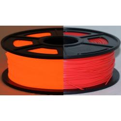 3D Filament ABS 1,75 mm Nachtleuchtend orange 1000g 1kg