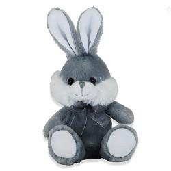 Plüschtier Hase super weich 16cm grau