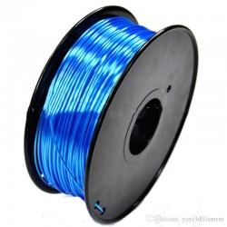 3D Filament 1,75 mm Polymer Silk blau 1000g 1kg
