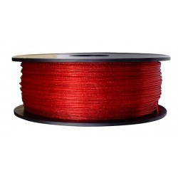 3D Filament 1,75 mm PLA funkelnd twinkling transparent rot 1000g 1kg