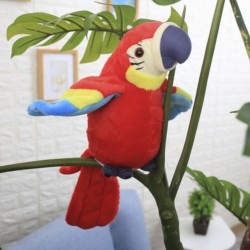 Sprechender Interaktiver Papagei rot 21cm