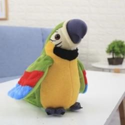 Sprechender Interaktiver Papagei grün 21cm