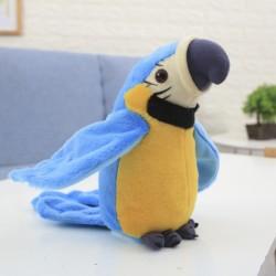Sprechender Interaktiver Papagei blau 21cm