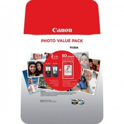 Canon PG-560 XL + CL-561 XL Multipack + 50x GP-501 Glossy Photo Paper (3712C004)