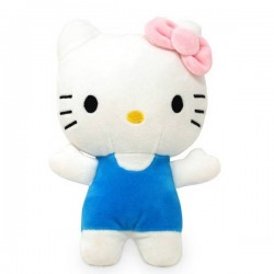 Hello Kitty Plüschfigur blau