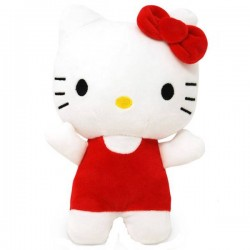 Hello Kitty Plüschfigur rot