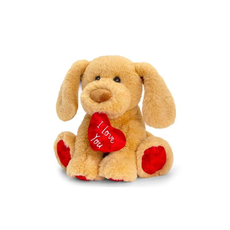 Plüsch Hund mit Herz 25cm