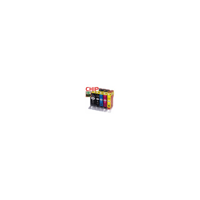 PGI-520BK/CLI-521BKCMY 5er Bundle mit CHIP kompatibel